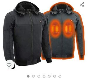 Men's heated hoodie jacket for motorcycle for Sale in Fresno, CA