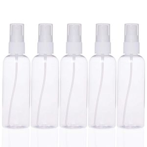Clear Spray Bottles 3.4oz/100ml 5-Pack Empty Fine Mist Portable Mini Travel Set, for Essential Oils Small Refillable Liquid Cosmetic Container for Sale in Redlands, CA