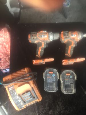 18-Volt Lithium-Ion Cordless Drill/Driver and Impact Driver 2-Tool Combo Kit with (2) 2.0 Ah Batteries, Charger RIDGID for Sale in Aurora, CO