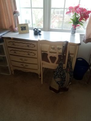 Antique French provential desk and chair for Sale in Chantilly, VA