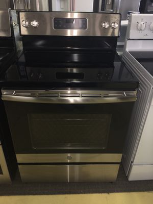 GE Brand New Stainless Steel Electric Stove With Warranty No Credit Needed Just $54 The Down payment cash price $1,100 for Sale in Dallas, TX
