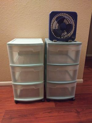 2 cabinets and a fan for Sale in Phoenix, AZ