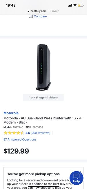 wifi router + modem for Sale in Pittsburgh, PA