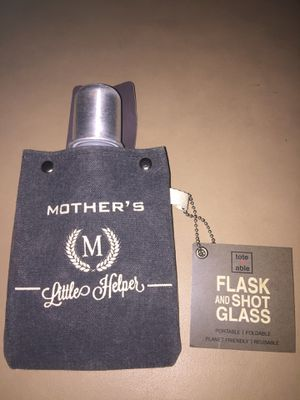 Tote Able Mother's Lil Helper Canvas Drink Flask NEW for Sale in West Palm Beach, FL