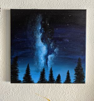 12x12 abstract night sky painting for Sale in Brownsville, TX