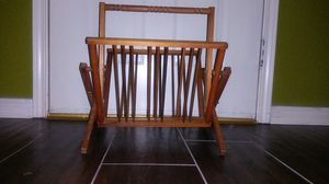 Vintage Wood Magazine Rack for Sale in Mesquite, TX