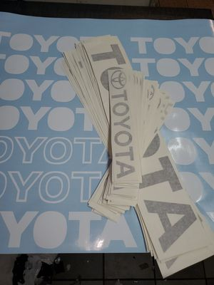 Toyota decal sets for Sale in Santa Fe Springs, CA