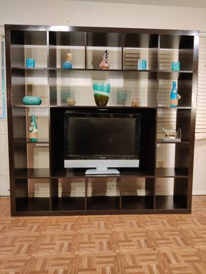 """Nice TV stand/entertainment center with many shelves in good condition, we can take it part for easy pickup, driveway pickup. L72""""*H72"""" for Sale in West Springfield, VA"""