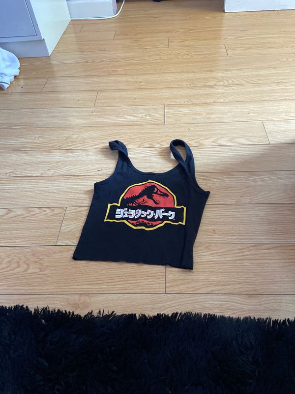 Jurassic park cropped tank top