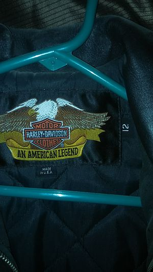 Real leather Harley Davidson youth jackets for Sale in Lawrence, KS