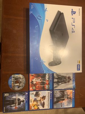 PS4 Console with 6 games & controller and cables like new for Sale in Ashburn, VA