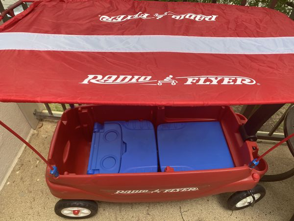 Radio flyer wagon with canopy
