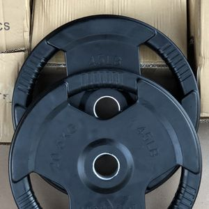 NEW IN BOX Olympic Rubber Coated Plates 45s PAIRS for Sale in Fremont, CA