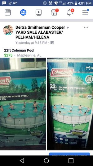 22ft Coleman Pool for Sale in Maplesville, AL