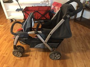 Chicco: double stroller with car seat for Sale in Harlingen, TX