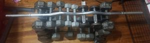 465 lbs in dumbbells free weights stands and incline bench and a curl bar ... for Sale in Bronx, NY
