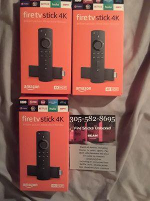 Amazon fire tv stick 4k 🔓🔓🔓🔓 for Sale in HALNDLE BCH, FL
