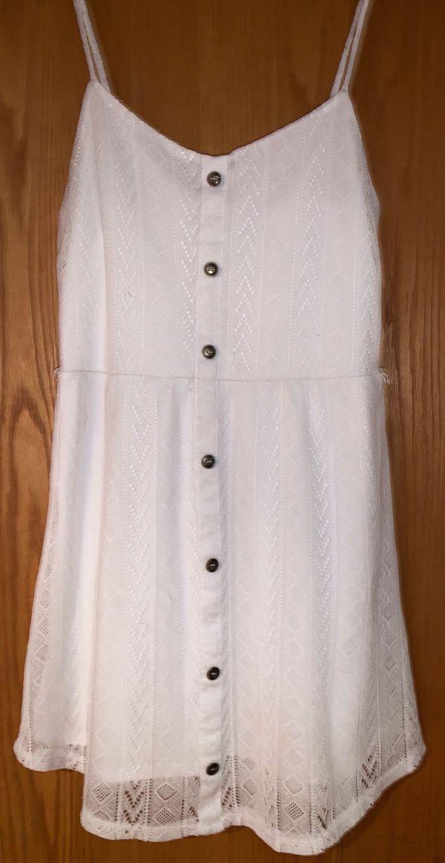 Charlotte russe white lace dress - size large
