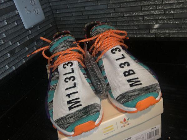 Adidas Pharell NMD Solar Pack(Orange) size 9