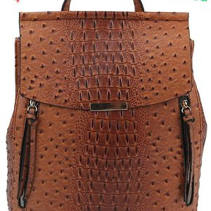 Embossed Faux Leather Backpack for Sale in Florissant, MO