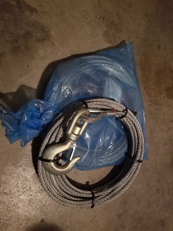 "B/A 3/8"" winch cable 50'"