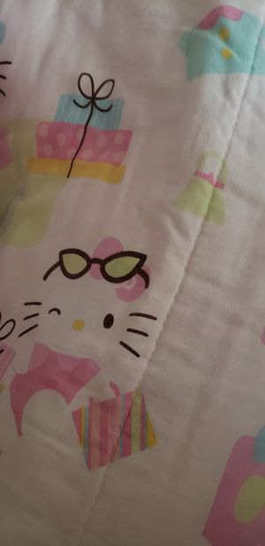 Hello Kitty twin sheet set & comforter. for Sale in Arcadia, CA