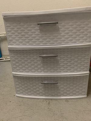 Sterlite Plastic three drawer box for Sale in Tampa, FL