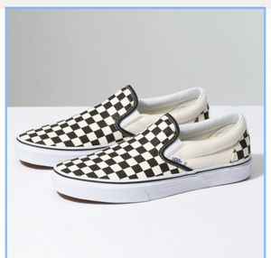 Checker slip on vans READ DESCRIPTION for Sale in Atwater, CA