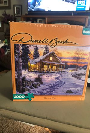 Darrel Bush 1000 PC Puzzle Winter Bliss for Sale in Puyallup, WA