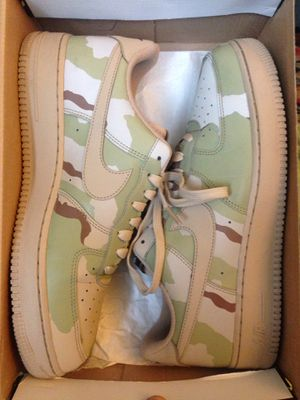 Nike Air Force one camo sand reflective size 11 for Sale in Burien, WA
