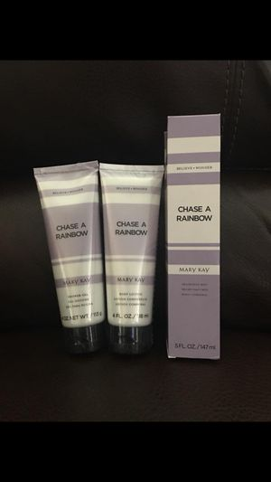 Mary Kay Chase a Rainbow Body Lotion, Shower Gel and Fragrance Mist (NEW/individually wrapped) for Sale in Manassas, VA