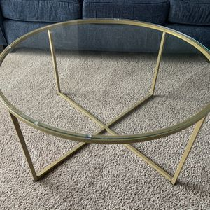 Wayfair Gold Coffee Table - Like New for Sale in Sayreville, NJ