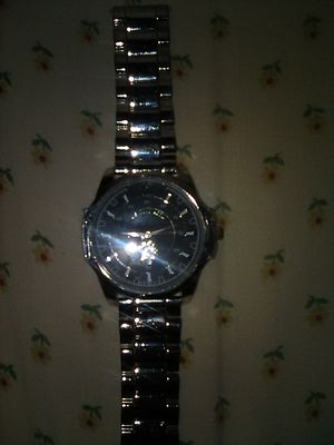 US POLO ASSN. BLACK FACE ACCUTIME WATCH IN EXCELLENT CONDITION for Sale in Wetumpka, AL