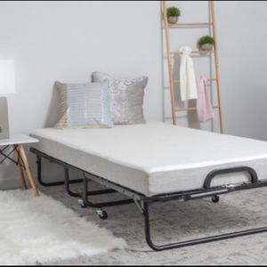 Diplomat Folding Bed with Memory Foam Mattress and Wire Lattice Frame – Twin 75″ x 38″ for Sale in District Heights, MD