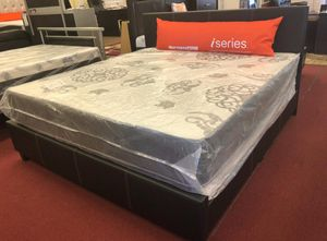 New Queen Mattress come with Bed 🛌 Frame and Free Box spring📌 Free Delivery 🚚 Today for Sale in Elkridge, MD