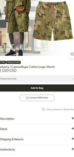 Burberry, Camouflage Logo Shorts (Medium) for Sale in Lenoir,  NC