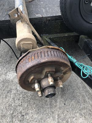 Dexter brand 3,500 lb axles w/ wheels and tires. Truck, trailer for Sale in Vancouver, WA