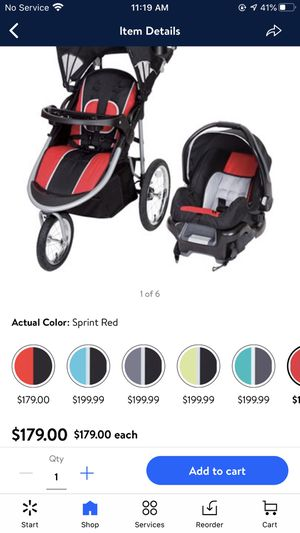 stroller with car seat and base for Sale in Winter Haven, FL