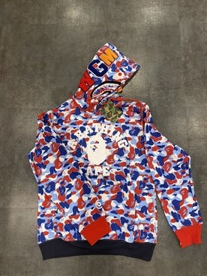 Logo red white bape hoodie M L XL for Sale in Glendale, CA