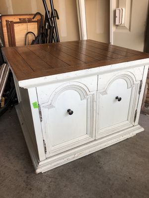 Square solid wood cabinet for Sale in Kent, WA