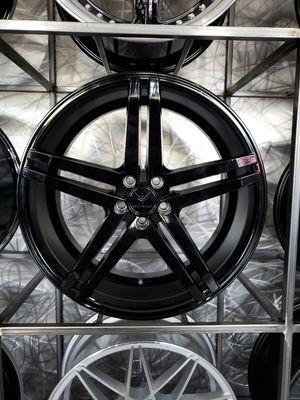 19x8.5 5x112 et42 verse V99 gloss black wheels fits Mercedes audi Volkswagen wheel tire rim shop for Sale in Tempe, AZ