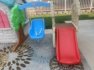 Outdoor play set with slide and swing for Sale in Jackson, CA