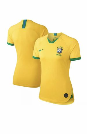 Nike Brazil 2019-20 Women's WC Home Jersey - Yellow size L New with tags for Sale in French Creek, WV