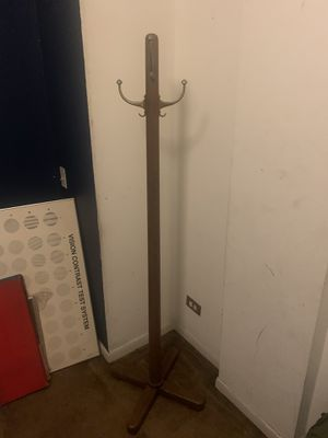 Beautiful vintage walnut and brass float hanger or rack for Sale in Chicago, IL