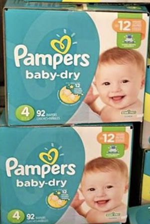 Pampers baby dry size 4 for Sale in Philadelphia, PA
