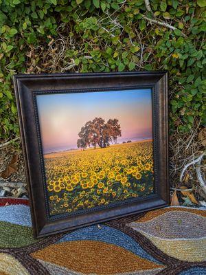 Fine art photography, framed art, Sunflower & Oak Tree for Sale in Upland, CA