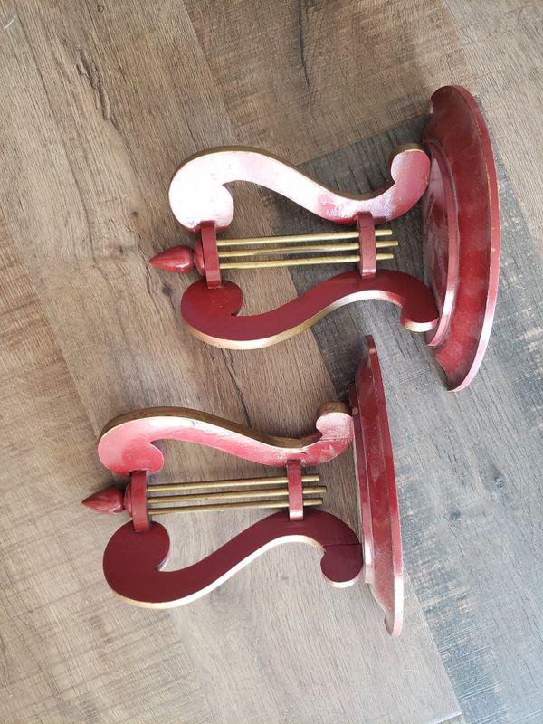 Vintage Harp Wall shelves