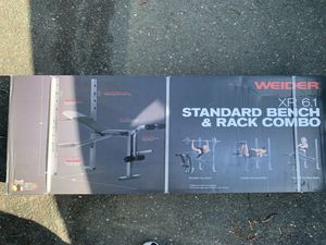 WEIDER XR 6.1 STANDARD BENCH & RACK COMBO for Sale in Malden, MA