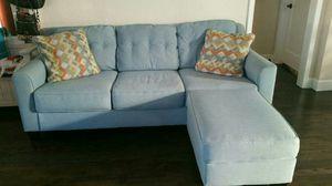 Seafoam couch and ottoman for Sale in Sacramento, CA