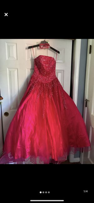 Red Prom or Quinceanera dress size 4 for Sale in Waltham, MA